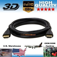 Free Shipping 1000pcs/Lot 6 FT High Quality AM-AM HDMI Cable 1080p With Ethernet Hi-Speed HDTV 3D and PS3 and XBOX