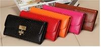 Lady's long wallet leather purse Wallet wallet