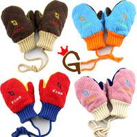 Baby gloves g mitten 3525 princess child winter gloves fashion