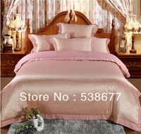 100% Noble luxurious Bedding Set  four pieces 2014 New golden bean