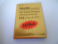 free shipping for GOLD 3030MAH REPLACEMENT BATTERY FOR SUMSANG Galaxy note I9220/N7000 battery