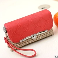 2013 women's handbag women's day clutch heart hardware small clutch portable small cross-body bag