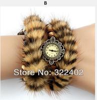"High Qualtiy JKC31010 Marten Hair Wrist watch ""Mink Hair Bracelets Watches"" New technology Free shipping Hot Sales"