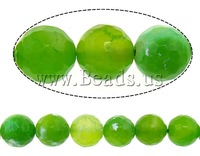 Free shipping!!!Natural Fire Crackle Agate Beads,innovative, Fire Agate, Round, faceted, 10mm, Hole:Approx 2mm