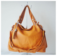 A98(orange) ,,2014 fashion ladys handbag,43x23cm,PU,6 different colors,two function,Free shipping