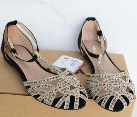 Elegant 2013 Women Flat Sandals Star Fashion Color Block Female Craft Sandals