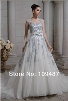 2014 latest high-end custom wedding dress color