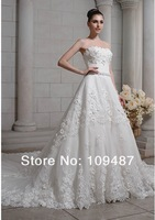 Lace wedding dress custom-made high-end palace