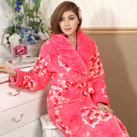 Winter new arrival brief fashion quality thickening thermal plus size sleepwear lounge robe bathrobes flower