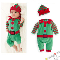 New Good Quality Baby Kids Children Pumpkin Christmas Clothes Long Sleeve + hat body suit Sets Rompers Wholesale, 4PCS/lot, B192