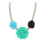 17346 2013 NEW Arrival Free Shipping Fashion Fashion And Lovely Roses Necklace