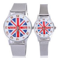 Free shipping Wholesale English Flag Lovers' Wristwatches New Fashion Luxury Men Women Dress watch Casual Roman Digital Watches