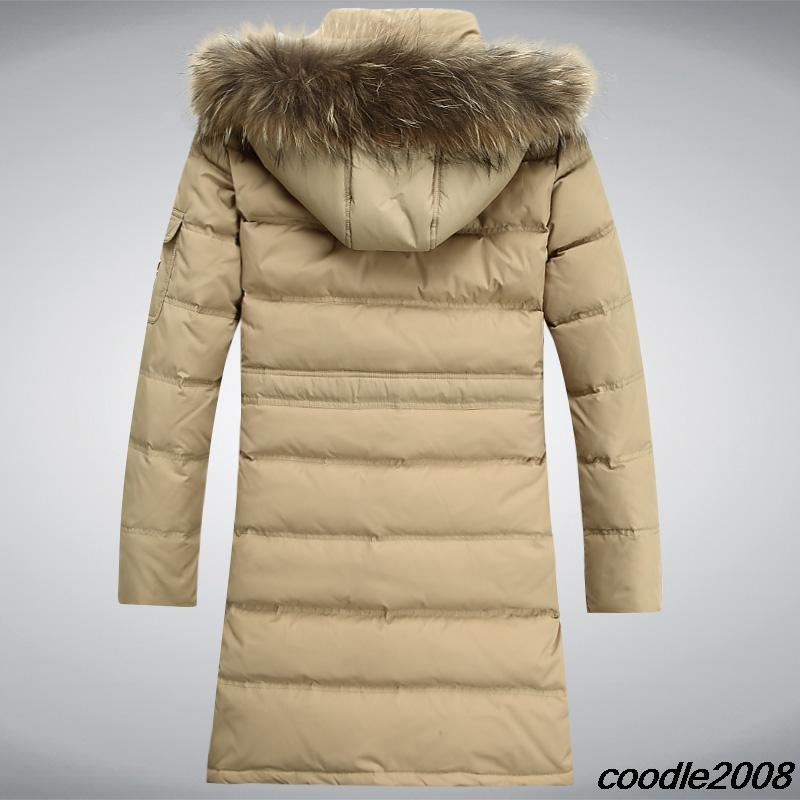 winter dress casual dress natural fur coat Raccoon collars down jacket long thicken parka men winter