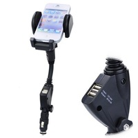 360 Degree Multi-direction Stretch Car Mount Charger Holder for Phone/MP4/PDA