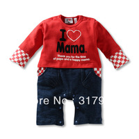 Free shipping 2014 New Arrival baby clothing,baby rompers,papa mama baby romper,3pcs/lot wholesale