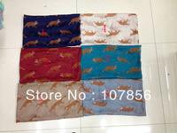 Free shipping New Design  ladies fashion animal fox print scarf  big size in mix colour