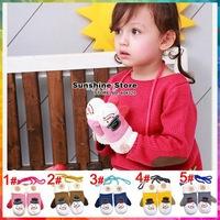 Sunshine store #2G0003  5 pair/lot(5 colors)children gloves winter Xmas gift snowman toddler Mittens kids wool/fleece lined CPAM