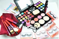 Fashion Hot Sale Professional makeup full set combination 16set/unite cosmetic brusehs eyeshadow palette eyeflash free shipping