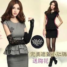 frete grátis venda quente da moda manga curta de outono e inverno vestidos de roupas femininas, za ** as mulheres se vestem tamanho grande vestido formal(China (Mainland))