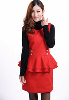Free shipping 2013 autumn New style women's autumn cashmere sweater, plus size woolen one-piece tank dress