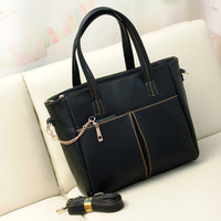 Female bags autumn black fashion vintage shoulder bag messenger bag large bag handbag