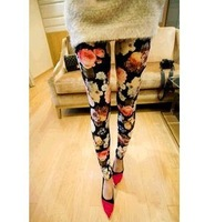 2013 new Flowers feet pants Leggings