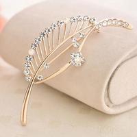 Free shipping New 2013 Elegant rhinestone hijab pins rhinestone leaf brooches BR008