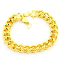 New Arrival Wholesale 24K Bracelet,24K Gold Plated Bracelet,Fashion Jewelry Bridal Yellow Gold Bangle Bracelet YHDH068