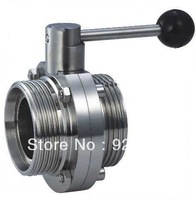 Sanitary satinless steel 304 butterfly valve/ 2inch butterfly valve/ threaded butterfly valve