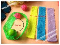 60pcs Elastic headbands Baby Hair Headband Girl's Hair Ornaments Lace Hair Circle Hair Children Accessories