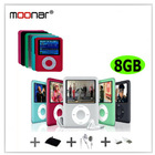New 6 Colors 8GB FM Radio 1.8 inch TFT Screen MP3 MP4 Music Player Built-in Ebook and Games DA0407-12(China (Mainland))