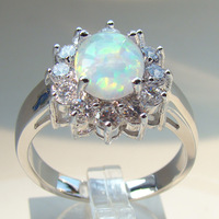 Beige Opal Unisex Ring Fashion opal ring Jewelry DR03010689R-5.7G Free Shipping