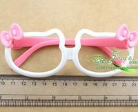 Wholesale kid eyeglass children fasion glasses lovely Hello kitty bow child glasses without  lens GTX-0029