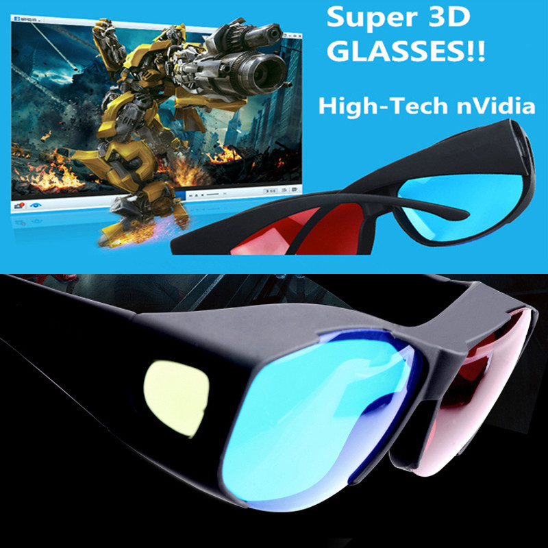 Best 3D Vision Red Blue Glasses Computer 3D Cinema Home Theater Movie Glasses-Free Shipping(China