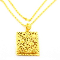 New Arrival Wholesale 24K Neclace,24K Gold Plated Necklace,Fashion Jewelry Bridal Yellow Gold Necklace YHDN111