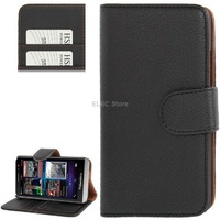 Litchi Texture Flip Leather Case with Credit Card Slots and Holder for BlackBerry Aristo Z30 / A10 (Black)