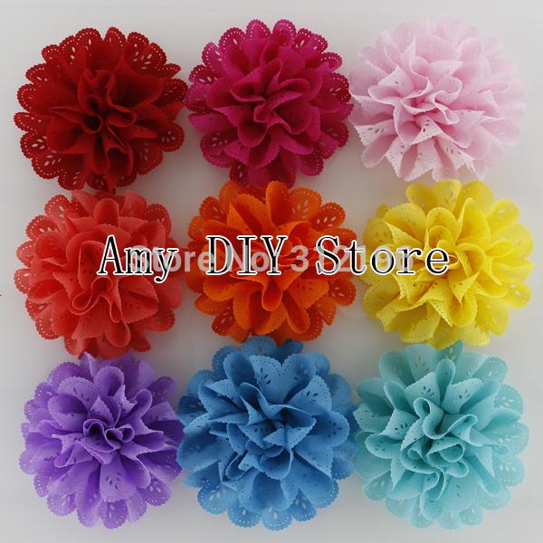 Flores con tela para el pelo - Imagui