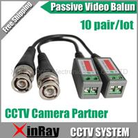 High quality 20pcs/lot Coax CAT5 Camera CCTV BNC Video Balun Transceiver B202 Camera Partner, Free shipping