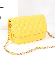 New 2013 plaid chain small bags candy color women's handbag one shoulder messenger bag