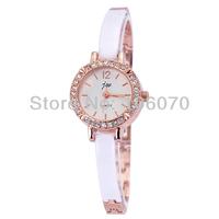 Free shipping Wholesale Ceramic Famous Brand JW Luxury Women Wristwatches Diamonds Rhinestone Watches White Quartz watches