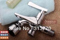 Free shipping copper dual holder three hole faucet pool mop faucet bathroom faucet