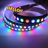 1M 144 Pixels WS2812B Dream Color LED Strip Lights 5050 RGB SMD WS2811 IC WS2812 Water Flash Lights DC5V