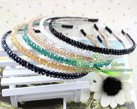 Korea a string of beads crystal hair band fashion hair clip charm hair accessories hair jewelry free shipping  GHN-0063