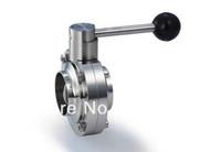 Sanitary satinless steel 304 butterfly valve/ 3 inch weld butterfly valve