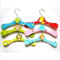 20pcs/lot  Free6 Styles shipping! wood Wooden children cartoon animal clothes hangers/Clothes tree/coat hanger, clothes rack,