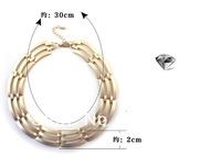 2013 new fashion textured gold  round  Exaggerated  short necklace   ,10pcs/lot   free shipping