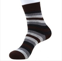 5 Pairs/lot Autumn Winter Men Socks Cotton Striped Thermal Socks For Men Tube Sport Soks 5 Colors Free Shipping