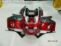 Injection Complete fairing kit for Ninja ZX1100 93-01 1993-2001 ZZ1100 93-01 1993-2001 Dark Red Gray