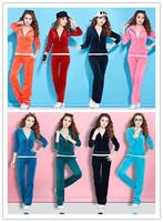 Free shipping+2014 NEW,S-XXXXL Big Size,Velvet,Good Elasticity Women's Casual Clothes Suit,Sports Wear,8 Colors