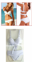 Sexy Lady,Sexy bikini swimwear sexy solid color triangle bikini steel push up swimsuit split